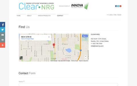 Screenshot of Privacy Page Contact Page clearnrg.com - Clear Nrg in Seattle, Wa : Contact - captured Oct. 22, 2014