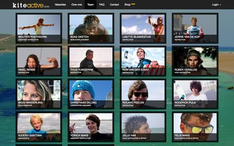 Screenshot of Team Page kiteactive.com - Team - captured Sept. 30, 2014