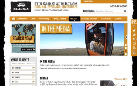 Screenshot of Press Page dragoman.com - In The Media - captured June 5, 2017