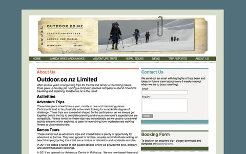 Screenshot of About Page outdoor.co.nz - About outdoor.co.nz - Bike Samoa » Outdoor - captured Oct. 26, 2014
