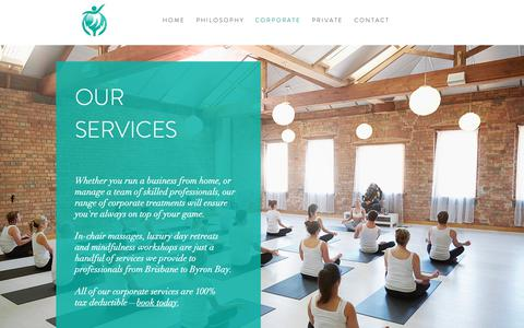 Screenshot of Services Page bodyhealers.com.au - onsite corporate massage  ergonomic assessments events Brisbane Gold C - captured Nov. 6, 2018