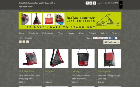 Screenshot of Products Page indiansummerleather.com - Ladies Bags | Ladies Leather Bags | Leather Bags - captured Oct. 30, 2014