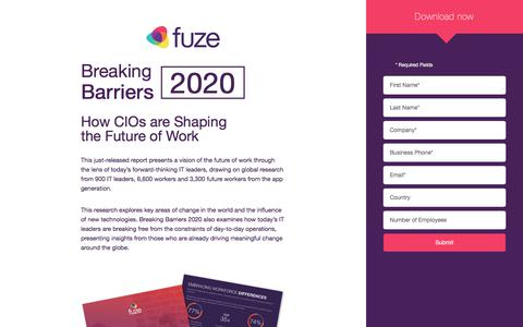 Breaking Barriers 2020 | Fuze.com
