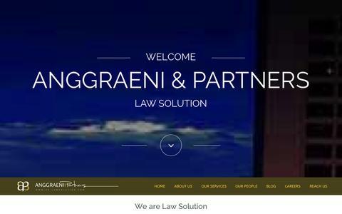 Screenshot of Home Page Blog ap-lawsolution.com - Anggraeni & Partners - captured Oct. 4, 2014