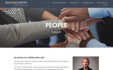 Screenshot of Team Page euro-academy.com - People — EuroAcademy - captured July 22, 2018