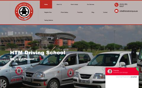Screenshot of Home Page htmdriving.co.za - Welcome to HTM Driving School - captured Sept. 26, 2018