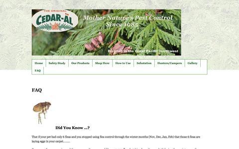 Screenshot of FAQ Page cedaroil.com - FAQ | CEDAR-ALCEDAR-AL - captured Oct. 1, 2014