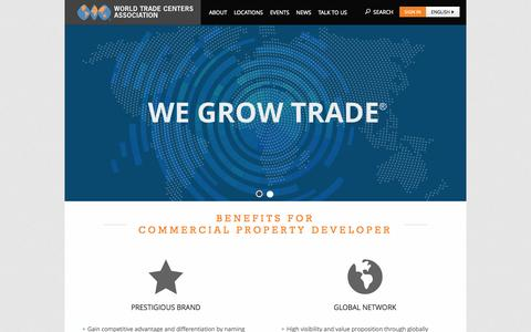 Screenshot of Developers Page wtca.org - World Trade Centers Association - captured Sept. 24, 2014