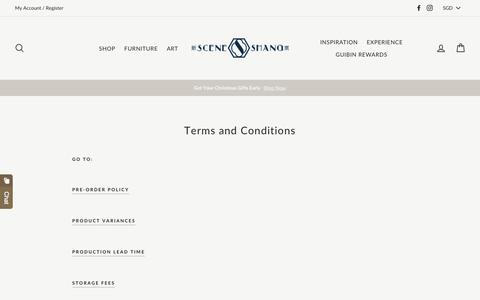 Screenshot of Terms Page sceneshang.com - Terms and Conditions – SCENE SHANG - captured Nov. 4, 2019