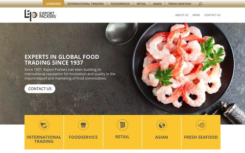 Screenshot of Home Page exportpackers.com - Export Packer - Experts in Global Food Trading since 1937 - captured June 7, 2019
