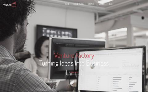 Screenshot of Home Page venturefactory.no - Venture Factory- Turning Ideas Into Business - captured Feb. 17, 2016
