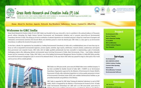 Screenshot of Home Page grc-india.com - GRC India - captured Oct. 3, 2014