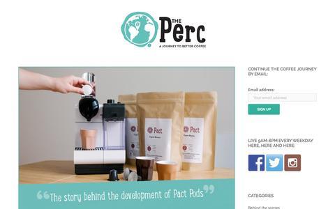 Screenshot of Blog pactcoffee.com captured Nov. 18, 2015