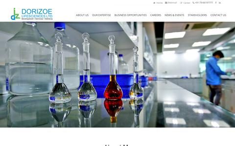 Screenshot of Home Page dorizoe.com - Dorizoe Lifesciences - captured Nov. 14, 2018