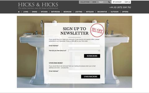 Screenshot of Signup Page hicksandhicks.com - Sign Up Subsciption - Hicks and Hicks - captured Sept. 30, 2014