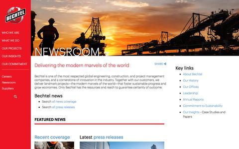 News - Bechtel Corporate News - Bechtel