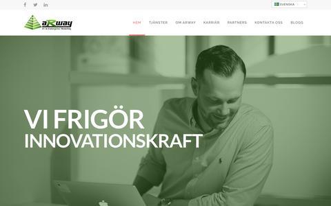 Screenshot of Home Page arway.se - Experter inom modellering och Enterprise Architecture - captured Sept. 15, 2015