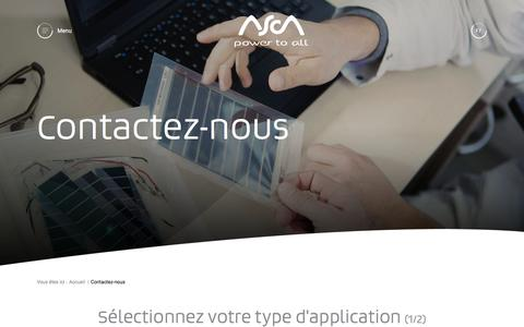 Screenshot of Contact Page asca.com - Contactez les équipes commerciales et techniques | ASCA© - - captured July 8, 2018