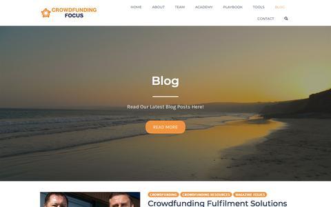 Screenshot of Blog crowdfundingfocus.com - Blog - Crowdfunding Focus Magazine - captured June 15, 2018