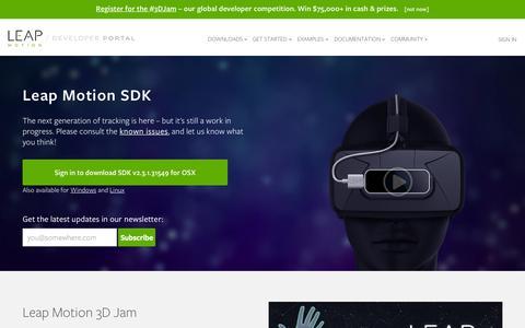 Screenshot of Developers Page leapmotion.com - Skeletal Tracking | Leap Motion Developers - captured Sept. 20, 2015