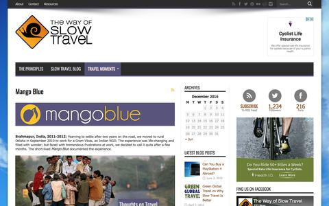Screenshot of thewayofslowtravel.com - Mango Blue - captured March 1, 2017