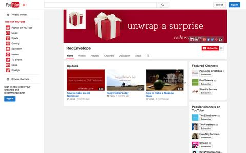 Screenshot of YouTube Page youtube.com - RedEnvelope  - YouTube - captured Oct. 25, 2014