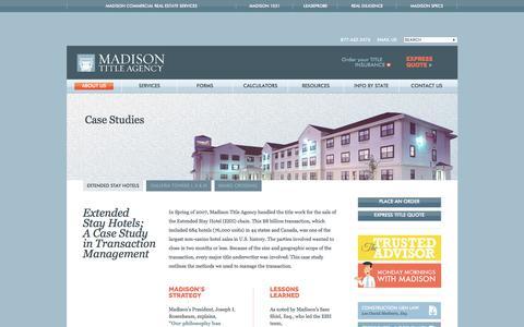 Screenshot of Case Studies Page madisontitle.com captured Oct. 5, 2017