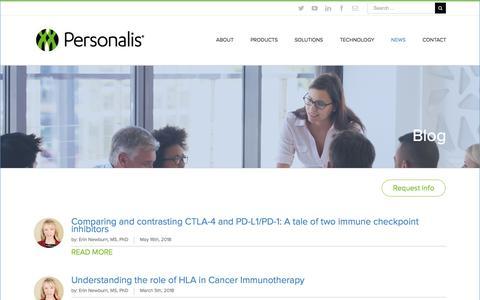 Screenshot of Blog personalis.com - Blog - Personalis - captured July 12, 2018