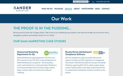 Marketing Case Studies for SMEs | Xander Marketing