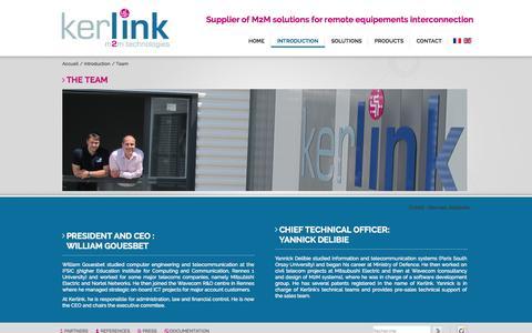 Screenshot of Team Page kerlink.com - Team - Kerlink | M2M : solutions de communication machine−to−machine - captured Sept. 12, 2014