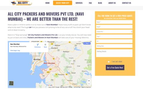 Packers and Movers in Navi Mumbai - All City Packers and Movers Pvt Ltd