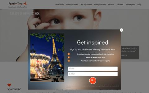 Screenshot of Home Page family-twist.com - Family Twist | Luxury Family Breaks - captured Aug. 3, 2016
