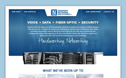 Screenshot of Home Page newportnetworksolutions.com - VOICE - DATA - FIBER-OPTIC - Newport Network Solutions - captured June 13, 2017