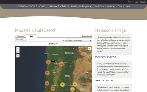 Screenshot of Maps & Directions Page oregonchoicegroup.com - Search Coos Bay Real Estate and Homes For Sale Coos Bay, North Bend, Bandon Oregon - captured Nov. 30, 2016