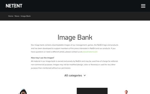 Screenshot of netent.com - Image Bank   NetEnt   Better Gaming - captured March 29, 2016