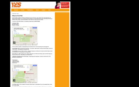 Screenshot of Maps & Directions Page youtheastsideservices.org - Contact Youth Eastside Services - captured Feb. 26, 2016