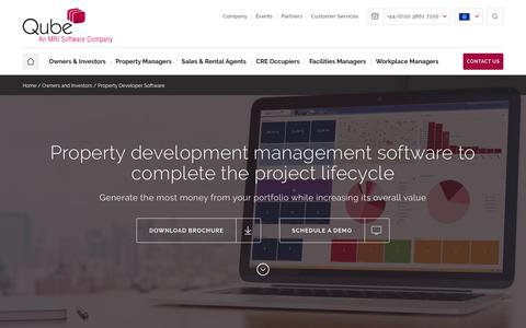 Screenshot of Developers Page qubeglobal.com - Property development software for the entire project lifecycle - captured Dec. 22, 2017