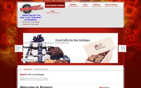 Screenshot of Contact Page promoz.com - Order Now-Contact Us   Promotional Products by Promoz - captured Nov. 5, 2018