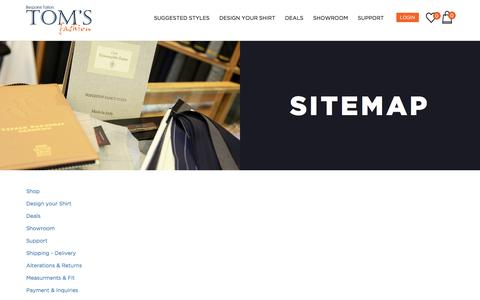 Screenshot of Site Map Page tomsfashion.com - Sitemap - captured May 22, 2017