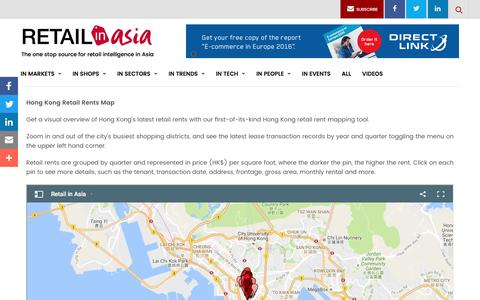 Screenshot of Maps & Directions Page retailinasia.com - RETAIL RENTS MAP – Retail in Asia - captured Nov. 28, 2016