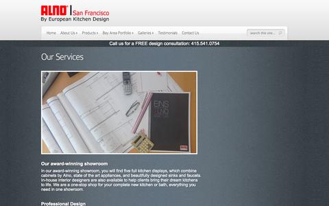 Screenshot of Services Page europeankitchendesign.com - Our Services - ALNO San Francisco - captured Sept. 30, 2014