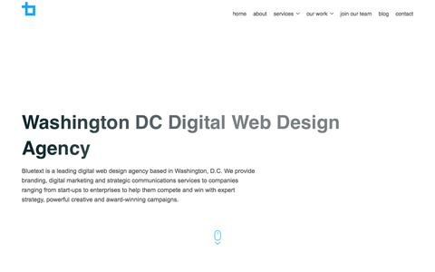 Washington DC Digital Web Design Agency | Bluetext
