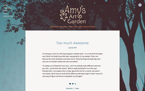 Screenshot of Press Page amysartgarden.com - Blog — Amy's Art Garden - captured Sept. 30, 2014