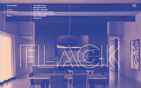 Screenshot of Home Page flackstudio.com.au - Flack Studio - captured Oct. 12, 2015