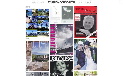 Screenshot of Press Page pascalmorabito.com - PRESS - captured Dec. 7, 2015