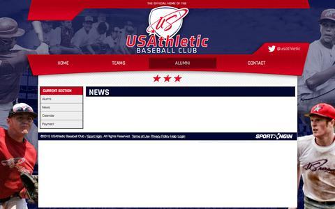 Screenshot of Press Page usathletic.com - News - captured Aug. 2, 2015