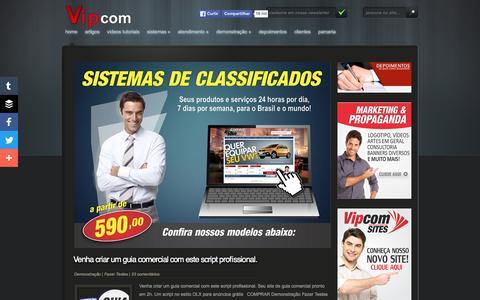 Screenshot of Home Page guiacomercialscript.com.br - Guia Comercial Script - Guia Comercial Script é um site para criação de sites de Guia Comercial. Temos plataformas de guia comercial para empregos, veículos, imóveis e serviços em geral - captured June 8, 2016