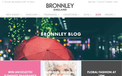 Screenshot of Blog bronnley.co.uk - Bronnley Blog   Bronnley England Blog Posts - captured Jan. 7, 2016