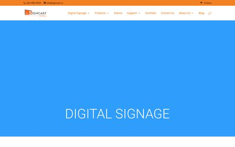 Screenshot of Press Page signcast.ca - Digital Signage - SignCast Media - captured Feb. 4, 2016