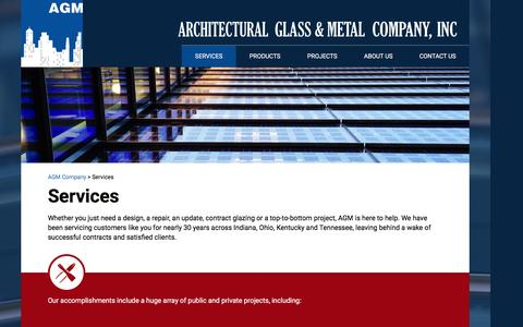 Screenshot of Services Page agmcompany.com - Services - AGM Company - captured Feb. 6, 2016